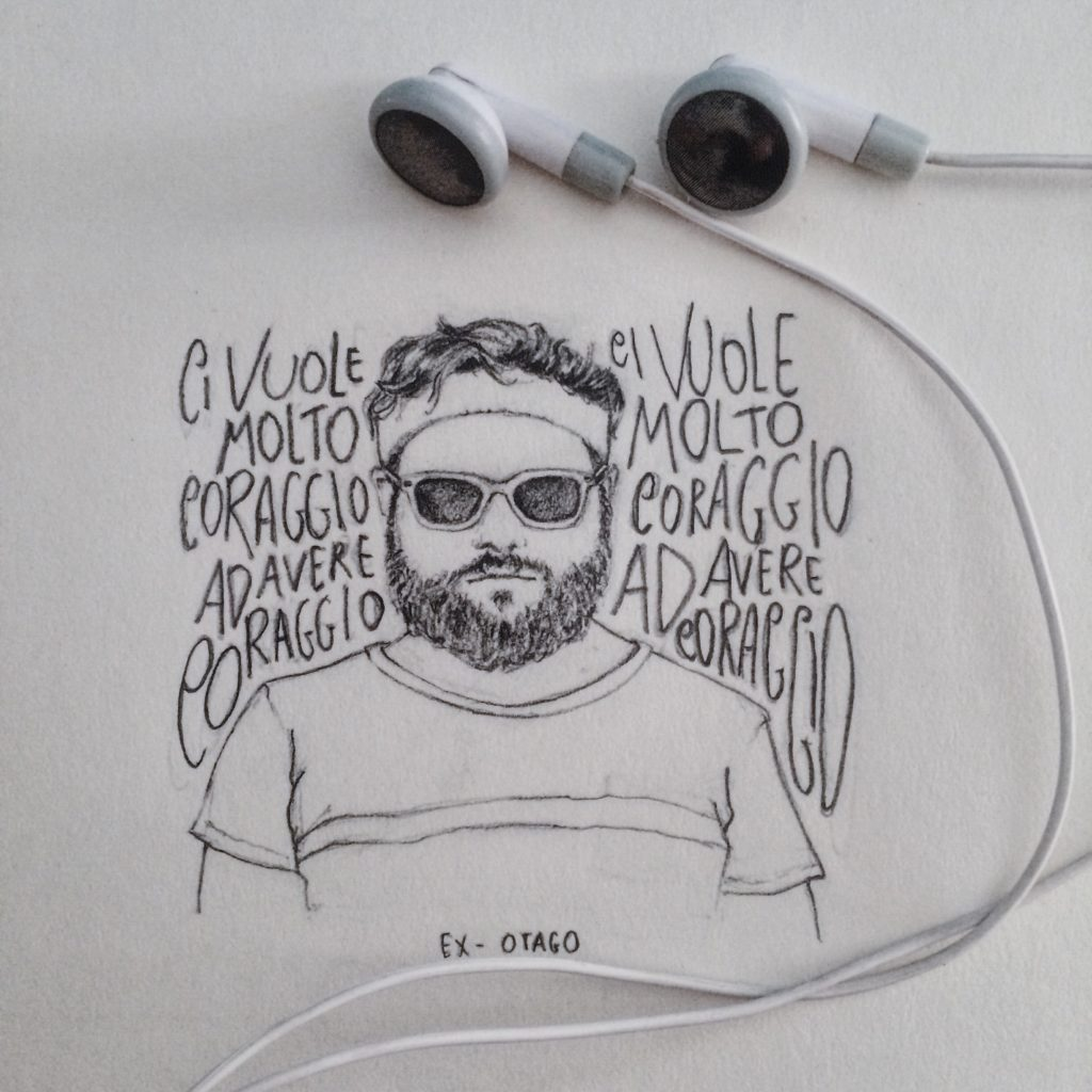 Illustrazione realizzata per gli Ex Otago: Ci vuole Molto Coraggio.