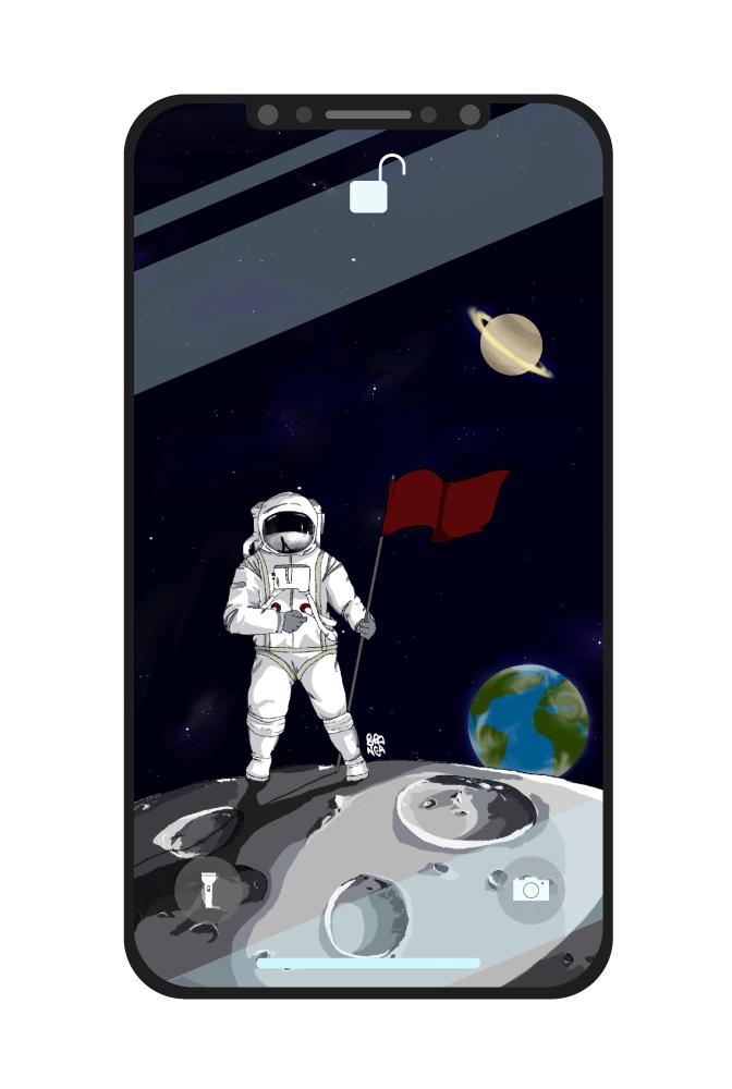 sfondo astronauta