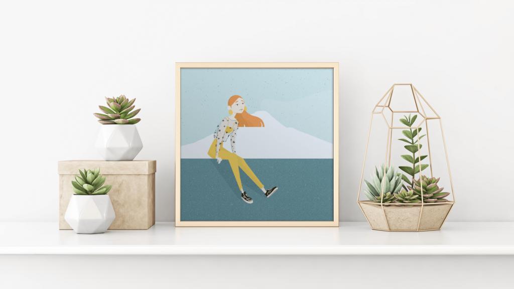 modello poster Illustrazione tra mare e montagna di Adriana Brancato